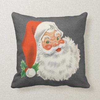 Chalkboard Print Vintage Santa Claus Christmas Cushion