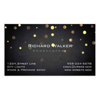 Chalkboard Professional Gold Confetti Black Pack Of Standard Business Cards
