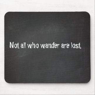 Chalkboard quotes mouse mat