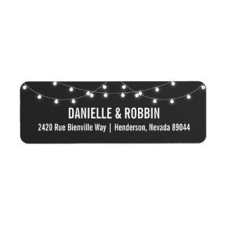 Chalkboard Return Address Labels with Lights