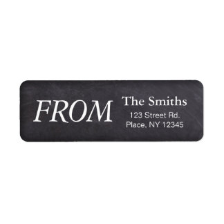 Chalkboard Return Label