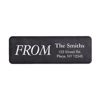 Chalkboard Return Label Return Address Label