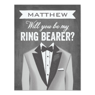 Chalkboard Ring Bearer | Groomsman Card