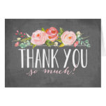 Chalkboard Rose Garden | Thank You Card
