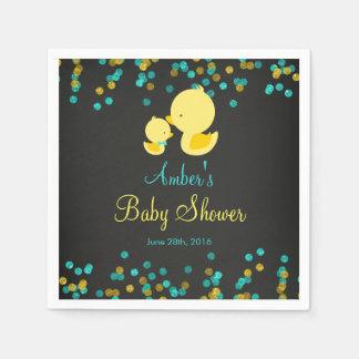 Chalkboard Rubber Duck Baby Shower Napkins Paper Serviettes