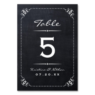 Chalkboard Rustic Chic Table Numbers
