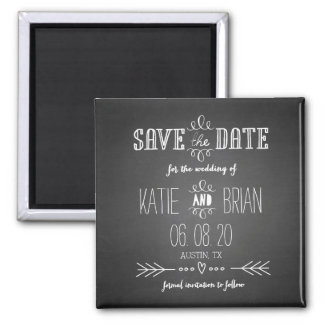 Chalkboard Rustic Save the Date Magnet