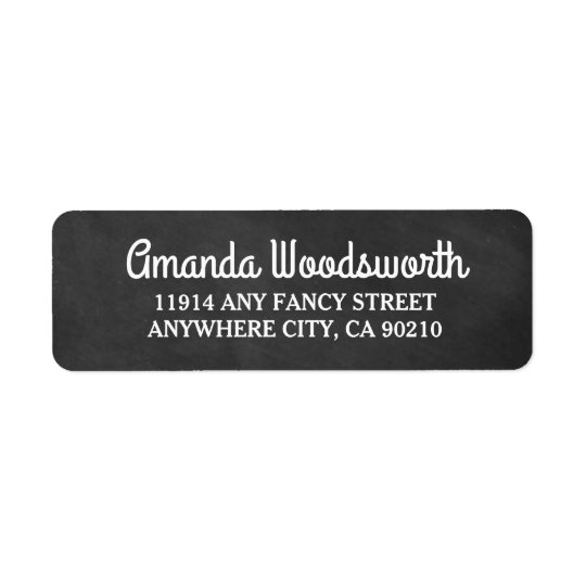 Chalkboard Rustic Wedding Return Address Labels