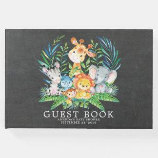 Chalkboard Safari Jungle Baby Shower Guest Book