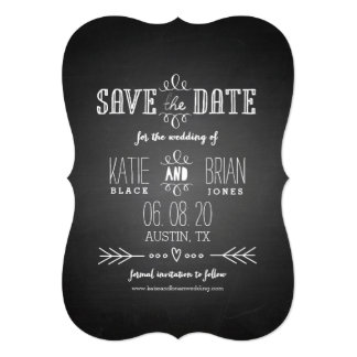 Chalkboard Save the Date Announcement 13 Cm X 18 Cm Invitation Card