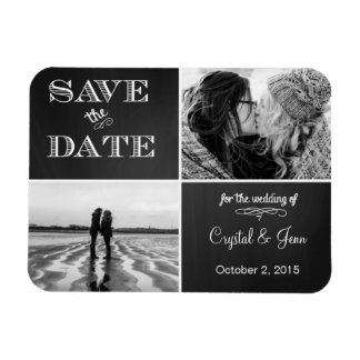 Chalkboard Save the Date Photo Magnets
