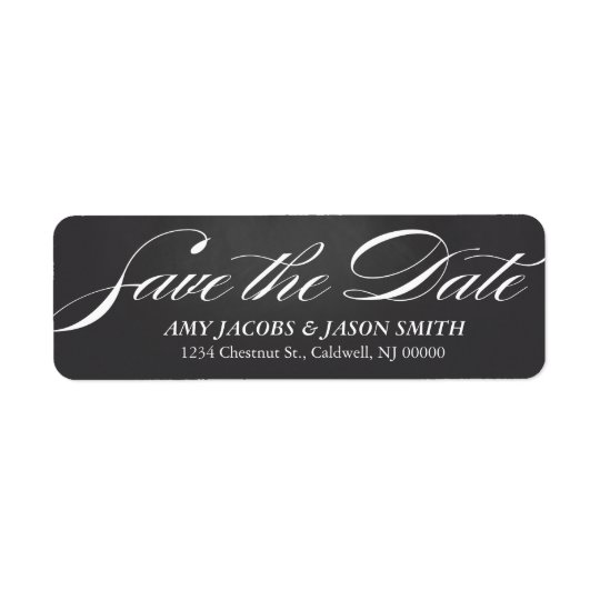 Chalkboard Save the Date Return Address Labels