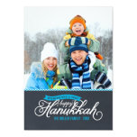 Chalkboard Script Hanukkah Photo Card