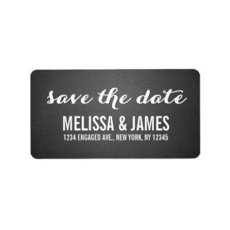 Chalkboard Script Save the Date Label