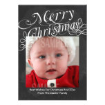Chalkboard Scroll Font Merry Christmas Template Custom Invite
