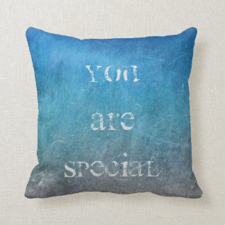 Chalkboard Sea Water Blue Grungy Ocean Waves Cushion