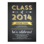 Chalkboard Shine Graduation Invitation Personalized Announcements