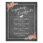 Chalkboard Signature Drink Menu with Horse motif Poster