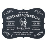 Chalkboard Skull Halloween Cocktail Party 13 Cm X 18 Cm Invitation Card
