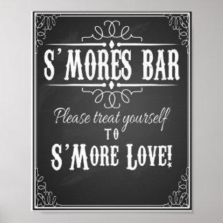 Chalkboard S'more Bar wedding party print