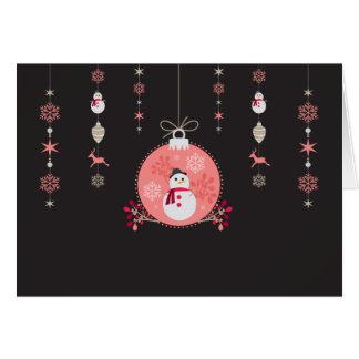 Chalkboard Snowman Navidad Card