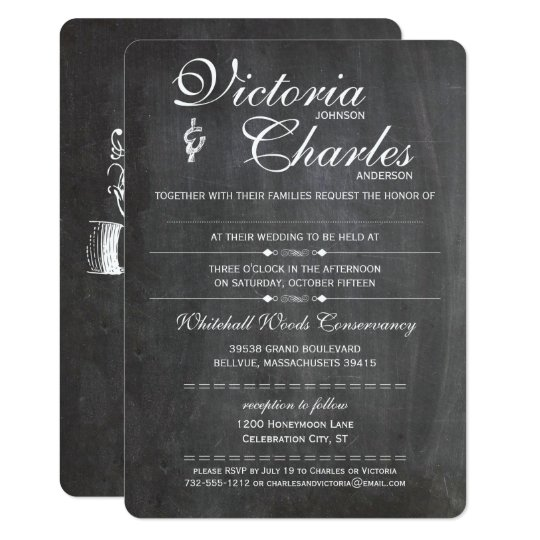 Chalkboard Space for Hand Written Guest Name Card