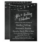 Chalkboard String Lights After Wedding Celebration Card