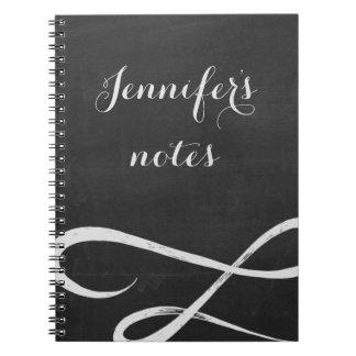 Chalkboard style notebook