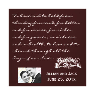 Chalkboard Style WEDDING Gift Gallery Wrap Canvas