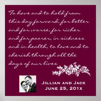 Chalkboard Style WEDDING Gift Poster