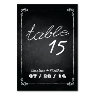 Chalkboard Style Wedding Place Cards Table Card
