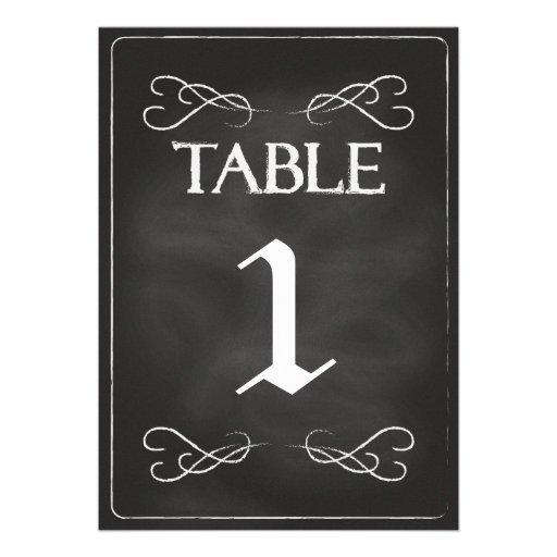 Chalkboard Table Numbers Custom Invitations
