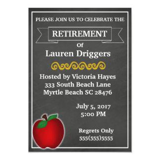 Chalkboard Teacher Retirement Invitation