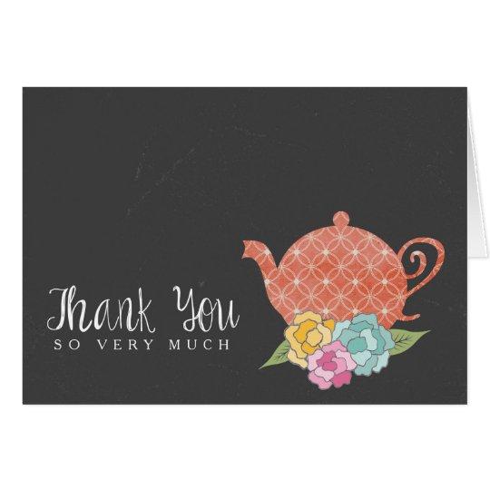 Chalkboard Teapot Thank You Note Card