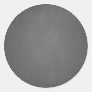 Chalkboard Template Blank Classic Round Sticker