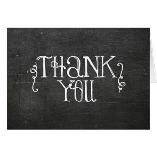 chalkboard thank you card