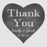 Chalkboard Thank You Heart Favour Tags