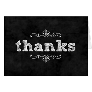 Chalkboard thank you notes / wedding bridal shower greeting card