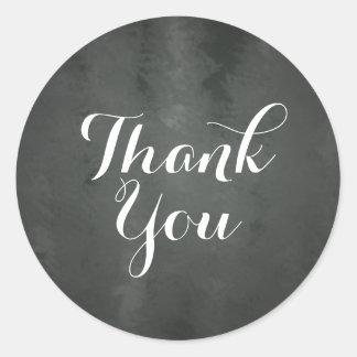 Chalkboard Thank You Sticker