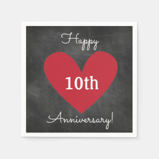 Chalkboard Themed Napkins for Anniversary Party Disposable Serviettes
