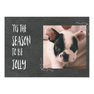 Chalkboard Tis the Season with Photo Card
