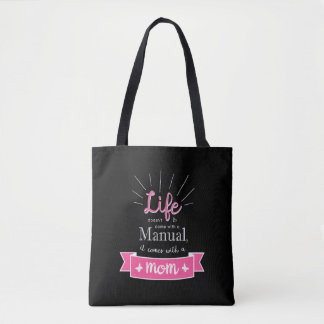 """Chalkboard"" Tote with a Quote for Mom"