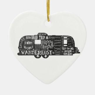 Chalkboard Trailer Ceramic Heart Decoration