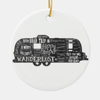 Chalkboard Trailer Christmas Ornament