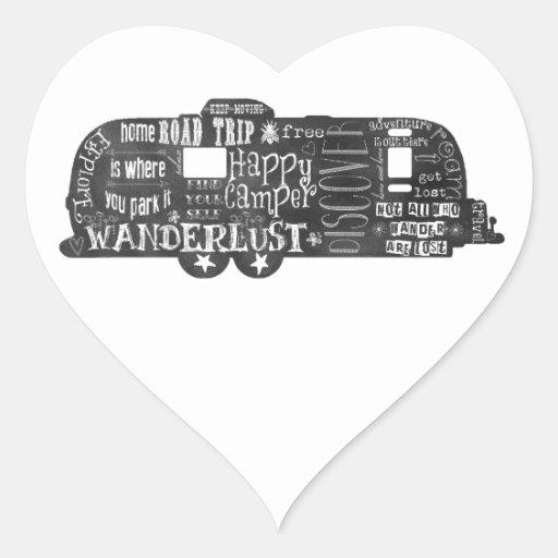 Chalkboard Trailer Heart Stickers