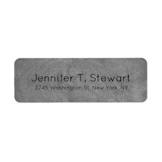 Chalkboard Trendy Modern Professional Elegant Grey Return Address Label
