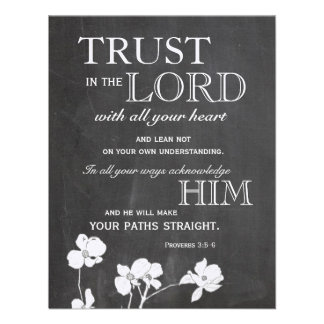 Chalkboard Trust in the Lord Encouragement Cards
