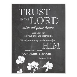Chalkboard Trust in the Lord Encouragement Cards Invites