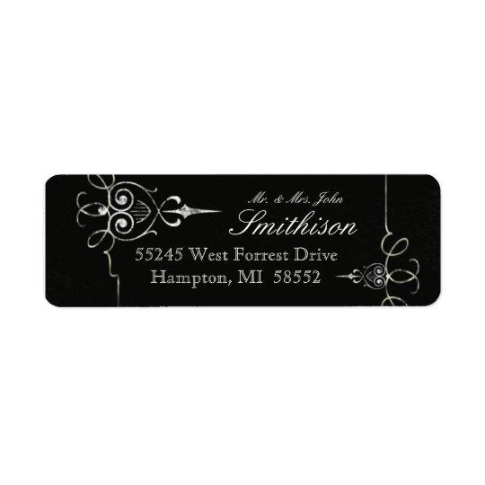 Chalkboard Typography Modern Wedding Address Label
