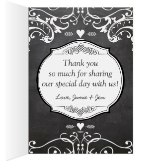 Chalkboard Typography Weddings Card